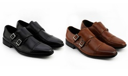 Xray Double Monk Strap Shoes: Black/11