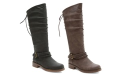 Maylynne Knee High Boots: Black/6.5