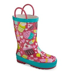 Washington Shoe Company Toddler Girls' Rain Boots - Cupcakes - Size: 5-6