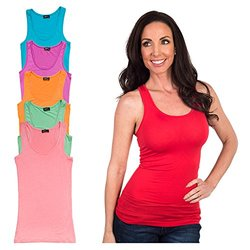 Women's Racerback Tank Top: Spring-multi-color/xxl (6-pack)