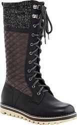 Eddie Marc Women's Lace-Up Combat Winter Boots - Black - Size: 11
