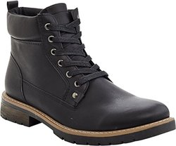 Marco Vitale Men's Tall Laceup Work Boot -  Black - Size: 10