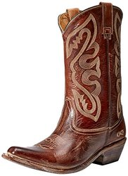bed stu Women's Tehachapi Western Boot, Tan Rustic/White, 8 M US