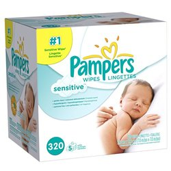 Pampers Sensitive Wipes 5x Box - 320 Count