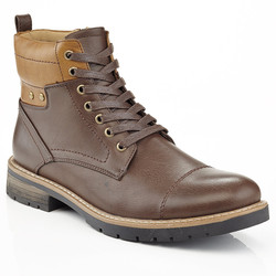 Marco Vitale Men's Lace Up Combat Chooka Casual Boots - Brown - Size: 10