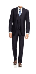 Braveman Slim Fit 3-piece Suit - Navy - Size: 52R x 46W