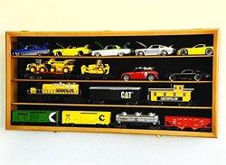 O Scale Train Display Case Cabinet Wall Rack - Oak (dc7038o)
