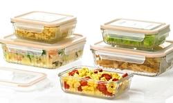 Glasslock Ovenproof Retro Food Storage Set: 10-piece