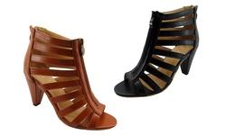 NyVip Women's Fashion Sandals, Cognac, 7.5