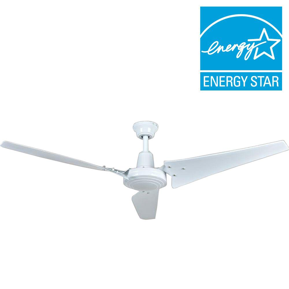 Hampton bay 52860 industrial 60 in white energy star ceiling fan white energy star ceiling fan aloadofball Image collections