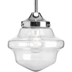 Progress Lighting P5137-15 Schoolhouse Collection 1-Light Chrome Pendant