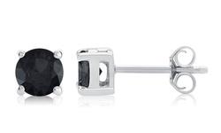 Black Diamond Stud Earring In Sterling Silver: Ke7952-dw/1.50 CTTW