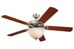 "English Pewter / Gray Tea Stain (epact Compliant) 52"" Indoor Ceiling Fan"