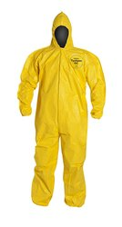 DuPont Tychem QC127B Disposable Coverall Hood & Storm - Yellow - Size: 4XL