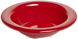 Carlisle 3304205 Sierrus Melamine Rimmed Fruit Bowls 45-oz Red Set of 48