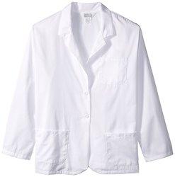 Worklon Ladies Polyester/Cotton Jacket Button Closure - White Size: 3XL