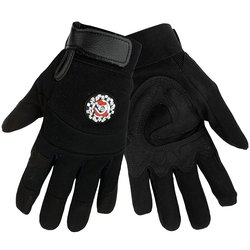 Global Glove Aireflex Synthetic Leather Hot Rod Sport Glove - Black