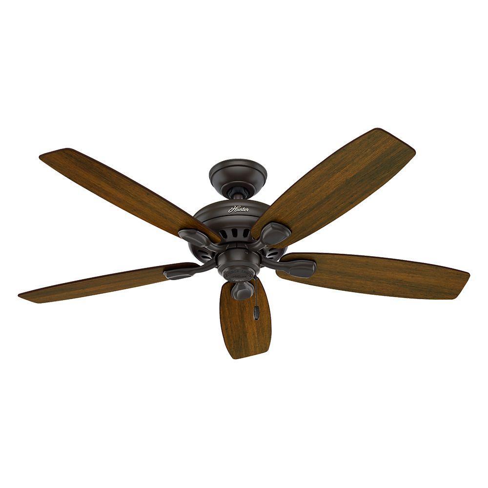 """New 52 3 Light Bronze Indoor Ceiling Fan Best Price: Hunter 52006 Highbury 52"""" Indoor New Bronze Ceiling Fan"""
