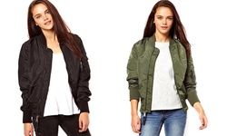 Kourtney Bomber Jacket: Olive/large