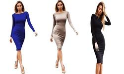 Victoria Dress, Beige - Large