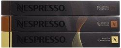 Nespresso Sweet Flavors Pack Vanilio - Ciocattino & Caramelito 30 Count