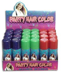 Rin Glitter Party Hair Color 24 Pcks - Multi Color