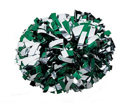 Generic Cheering Events Pom Poms - Gray & Green