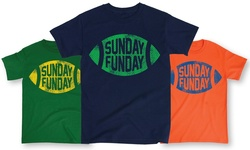 Men's Sunday Funday Football Tee: Red & Blue/large