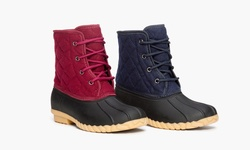 Sociology Cold Weather Quilted Duck Boot Charlie - Wine/6