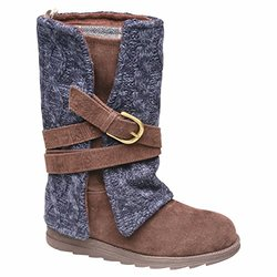 Muk Luks Women's Nikki Boots - Navy/Brown - Size: 6