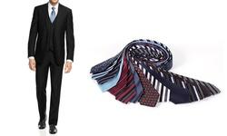 Braveman Slim Fit 3-Piece Suit - Black - Size: 50Rx44W