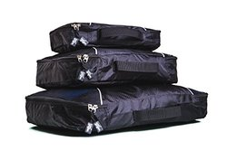 Yugen Packing Cubes 3-Piece Luggage 210D Rip-Stop Honeycomb Nylon
