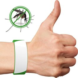 Sirnature Premium (Pack of 2) Mosquito Repellent Silicone Slap Wrist Ankle Bracelets Waterproof Safe for Kids 3+ Non-toxic No Deet No BPA Natural Citronella Lasts 200 Hours One Size Fits All.