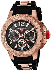 Ultrasonic Multi-Function Black Silicone & Dial Rose-Tone SS