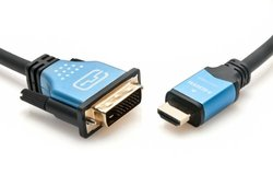 High Speed HDMI to DVI Adapter Cable 6.6 Ft/ 2M (HDMI-DVI-1.4-BL-6FT)