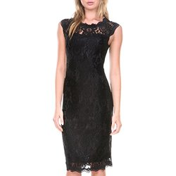 Stanzino Women's Lace Cocktail Dress - Black - Size: Medium