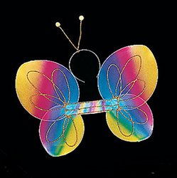 Fun Express ainbow Butterfly Wings and Antenna Headband by Fun Express