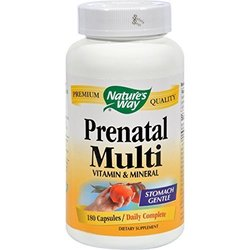 Nature's Way Prenatal Multi Vitamin and Mineral Capsules 180CT orange