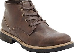 Marco Vitale Men's Short Laceup Work Boot - Brown - Size: 10.5