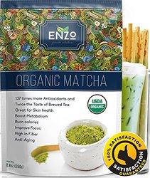 Strong Milky Taste Organic Matcha Green Tea Powder 8.8oz (250g) USDA Certified - Great for Matcha Latte, Smoothies, Green Tea Ice Cream and Baking & As Coffee Alternative