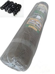 Shatex 6.5ftx 15ft Heavy Shade Fabric Roll, Coffee+ Clips, 90%