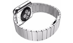 IPM Link Band with Horizontal Butterfly Closure for Apple Watch - Silver