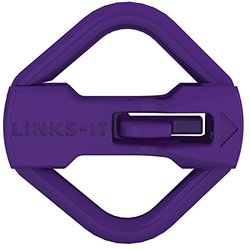 Links-It Durable Pet ID Tag Connector - Purple