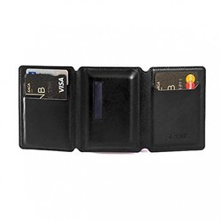 Seyvr Micro USB Phone Charging Leather Wallet - Black (G074CU1N1)