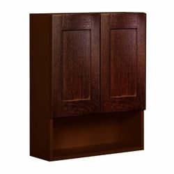 Shaker Panel Door Style Toilet Topper Maple Walnut Finish Model TT24309-SW