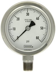NOSHOK 400 Stainless Steel Dry/Fillable Dial Indicating Pressure Gauge