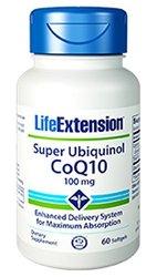 Life Extension Super Ubiquinol CoQ10, 100 mg, Softgels, 60-Count