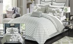 Niris Comforter Set: Grey/king (7-piece)