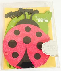 Always Anna Ladybug Party Invitations with Envelopes - 10 Count