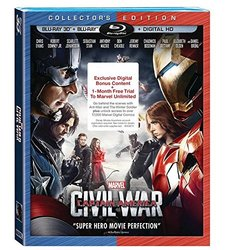 Disney Captain America Civil War Target Exclusive Edt 3D - Blu-Ray